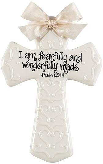 Cream Medium Cross I Am Fearfully And Wonderfully Made